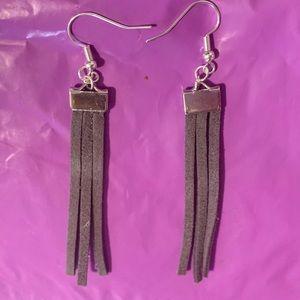 Suede tassel/fringe earrings